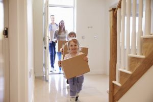 Family moving into house