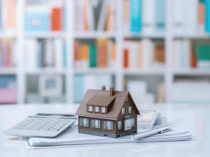 Toy house and financial documents