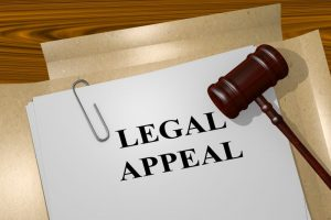 Legal appeal with gavel